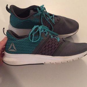Teal and Grey Reebok Sneakers